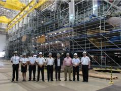 Comitiva Argentina no Estaleiro de Construção