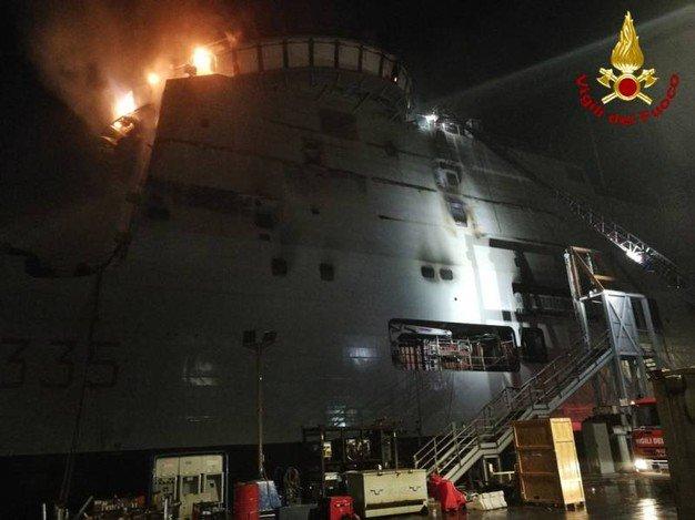 LSS Vulcano em chamas
