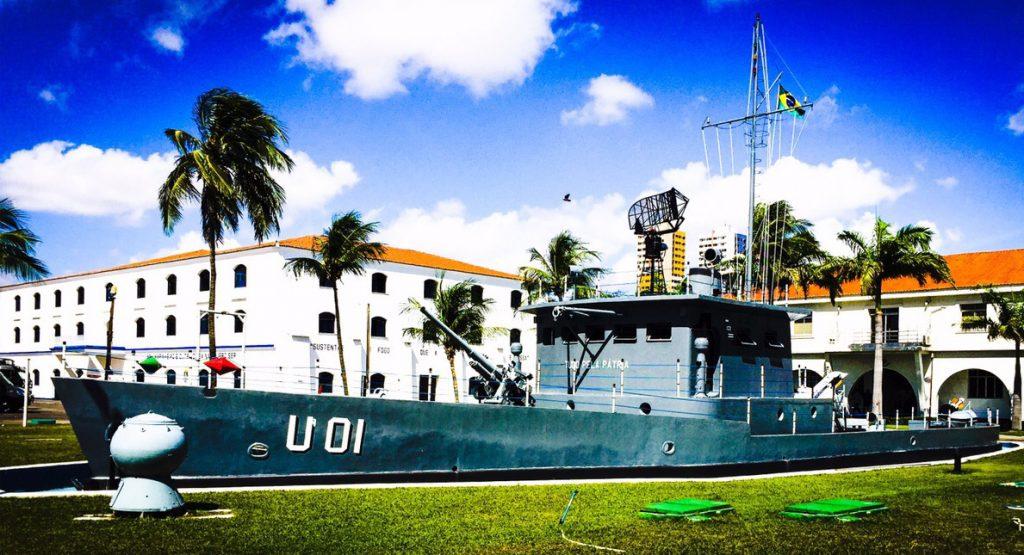 Navio de Pedra da EAMCE usado para treinamento dos marinheiros