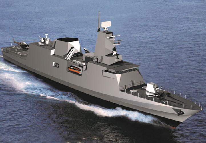 Concepção da corveta classe Tamandaré projetada pelo CPN