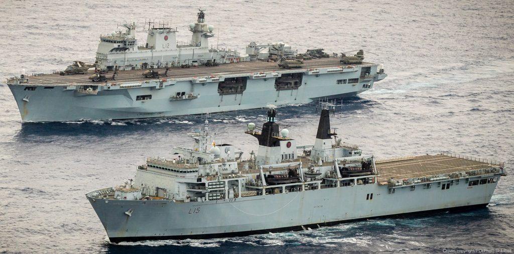 HMS Ocean e HMS Albion