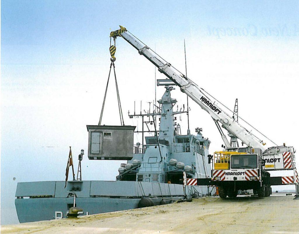 Dependendo da missão, diferentes módulos são instalados nos navios