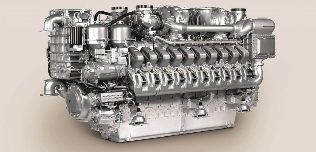 O motor a diesel MTU 20V-4000 M53B - Foto: Rolls Royce