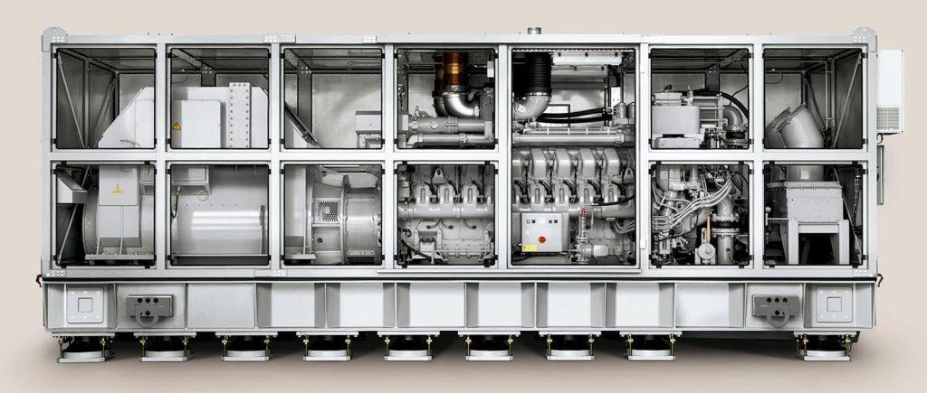 Os grupos geradores MTU 4000 possuem montagem especializada e são cercados por um gabinete acústico, garantindo baixos níveis de ruído irradiado, críticos para a guerra antissubmarino -Foto: Rolls Royce