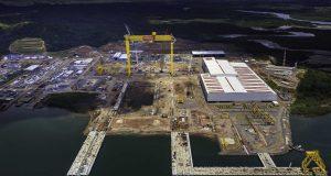 Vista aérea do Enseada Indústria Naval, antigo Estaleiro Enseada do Paraguaçu