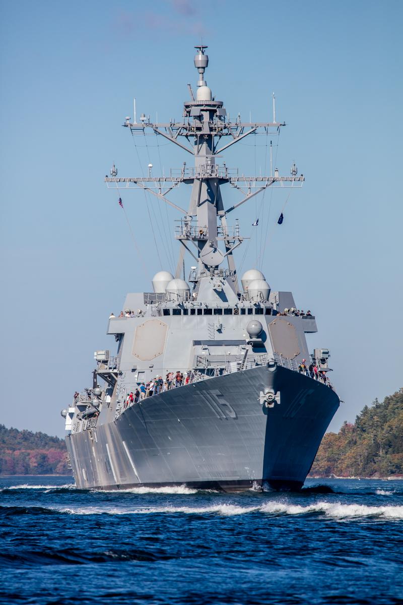 USS Rafael Peralta em provas de mar