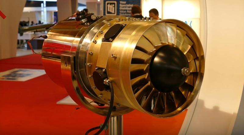 motor turbojato em miniaturaKale 3500