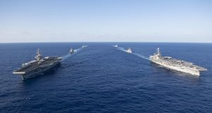 USS Ronald Reagan and USS John C. Stennis Dual Carrier Strike Force Exercise
