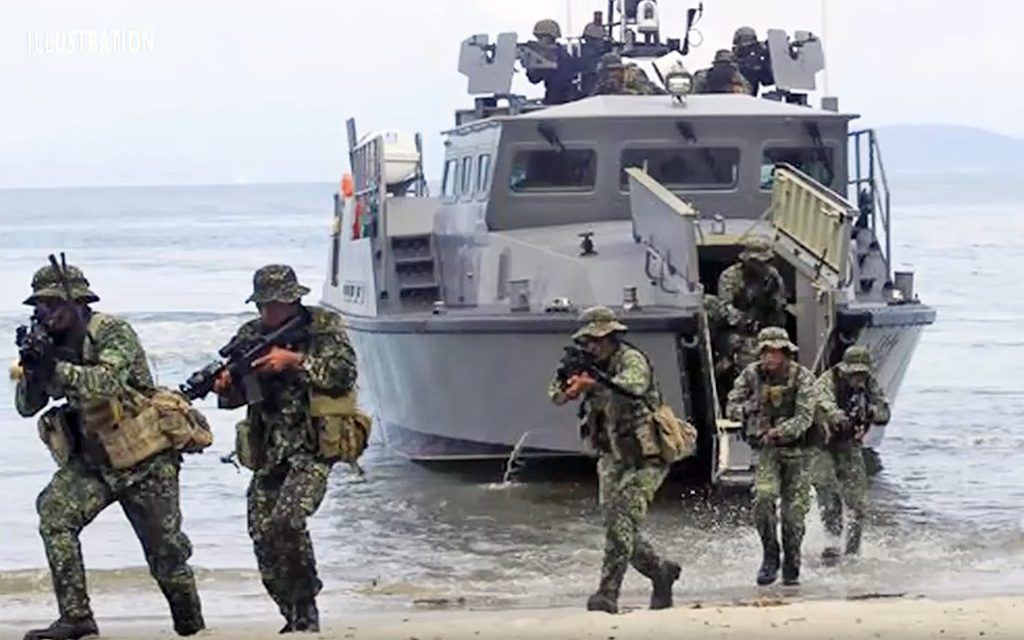 MPAC realizando desembarque de fuzileiros