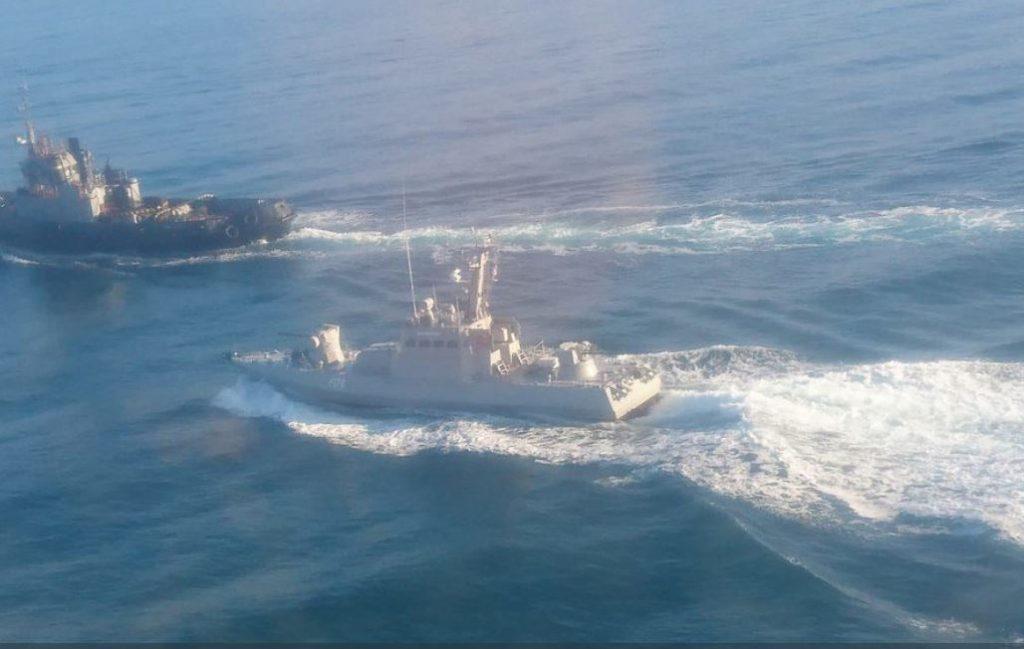 O rebocador e um dos barcos patrulha ucranianos que foram capturados pelos russos