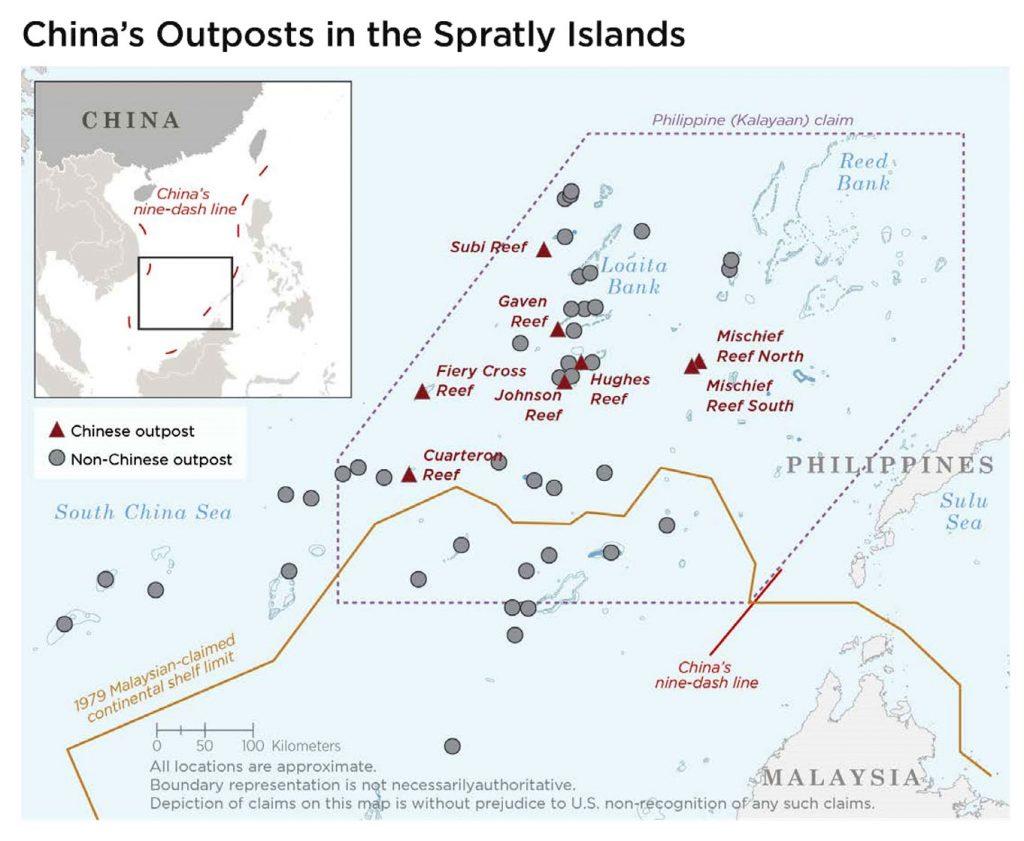 Bases da China nas Ilhas Spratly