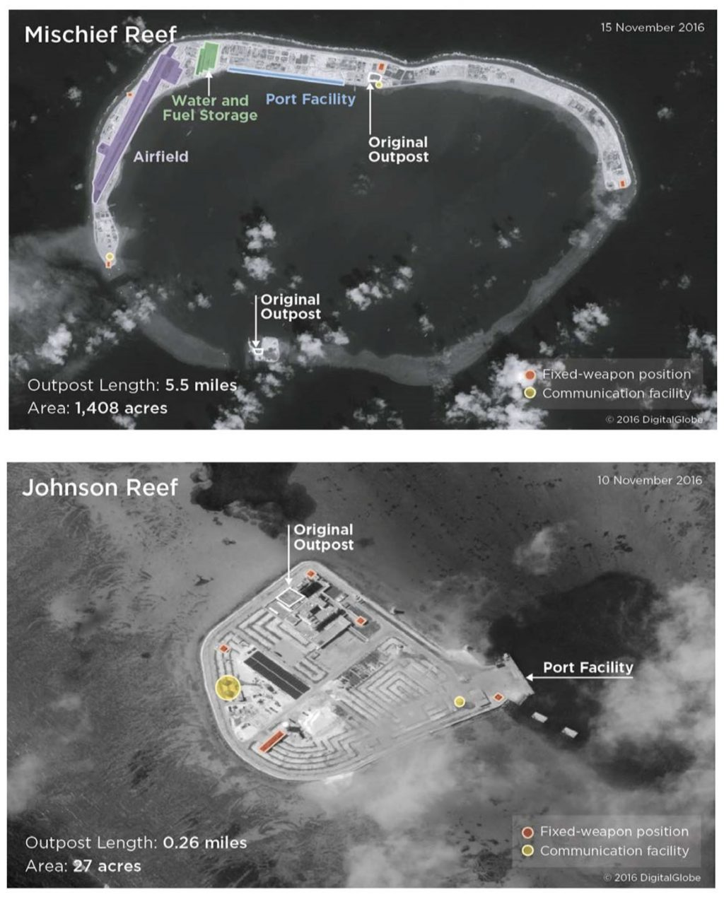 Bases da China nas Ilhas Spratly