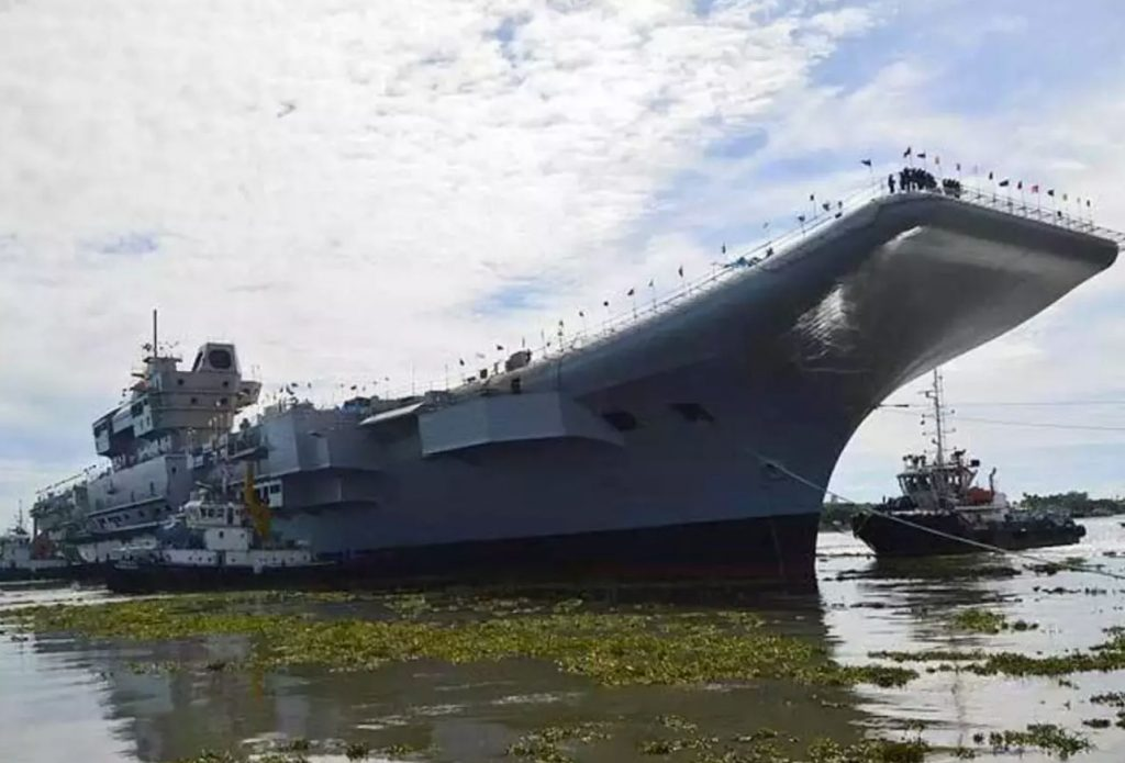 Futuro INS Vikrant, primeiro Indigenous Aircraft Carrier (IAC-1) indiano