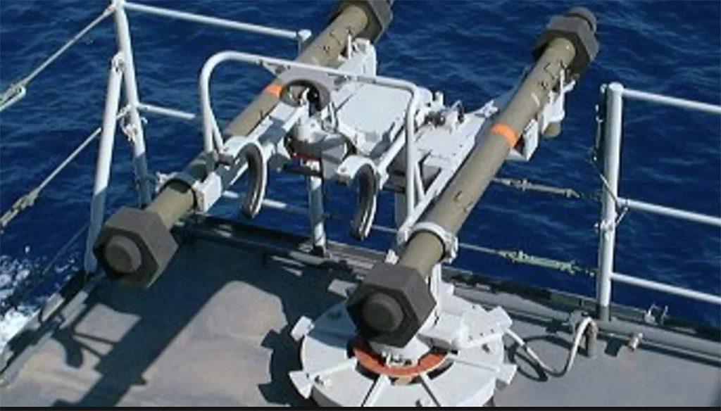 Lançador duplo de mísseis antiaéreos Mistral