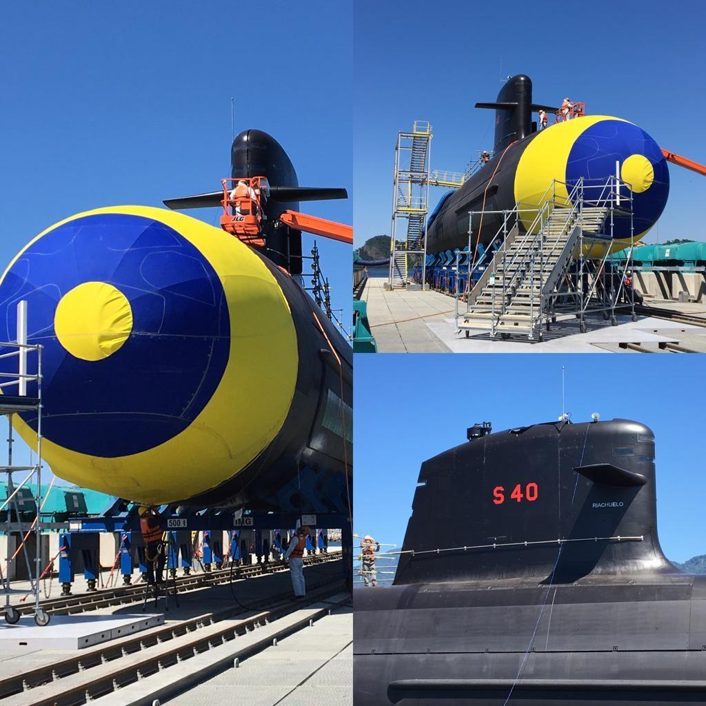 e9f82c3eb8 Lançamento do Submarino Riachuelo - S40 - Poder Naval - A informação ...