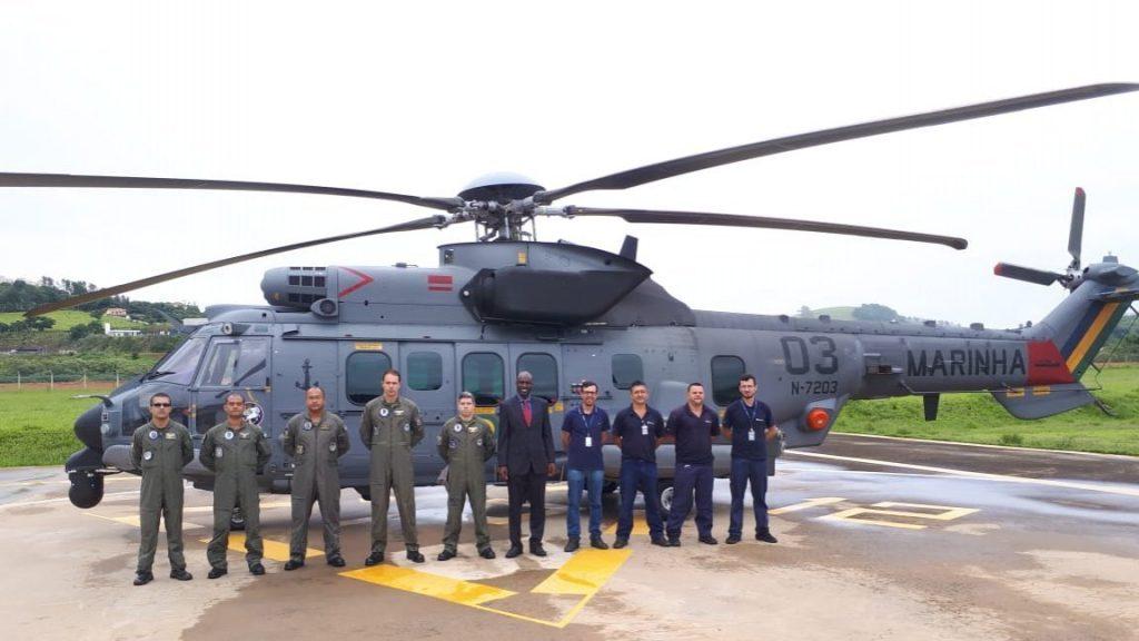 Marinha do Brasil recebe terceiro helicóptero H225M C-SAR