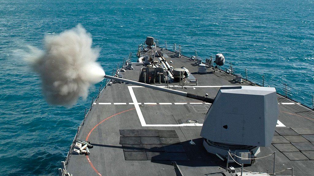 Canhão naval Mk45 de 5 polegadas