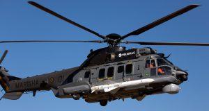 H225M com míssil Exocet AM39