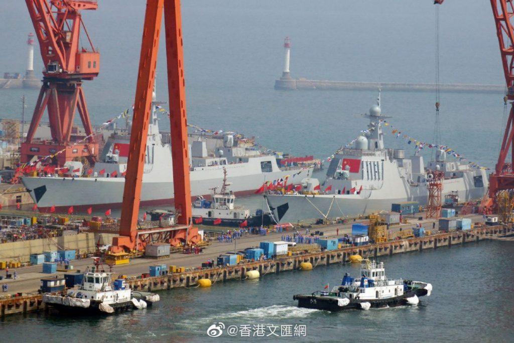 Lançamento de mais dois Type 052D em 10 de maio de 2019