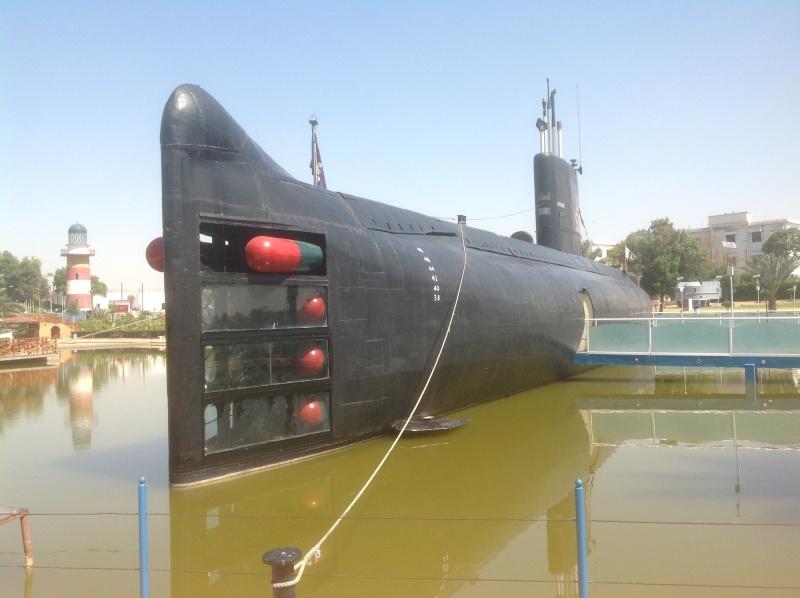 O submarino Hangor está preservado no Museu Marítimo do Paquistão