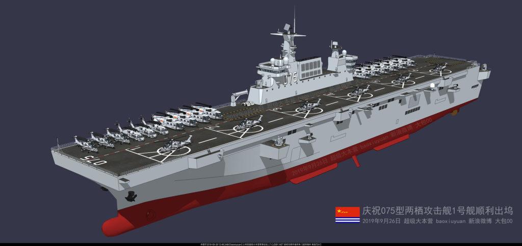 Modelo em 3D atualizado do Type 075