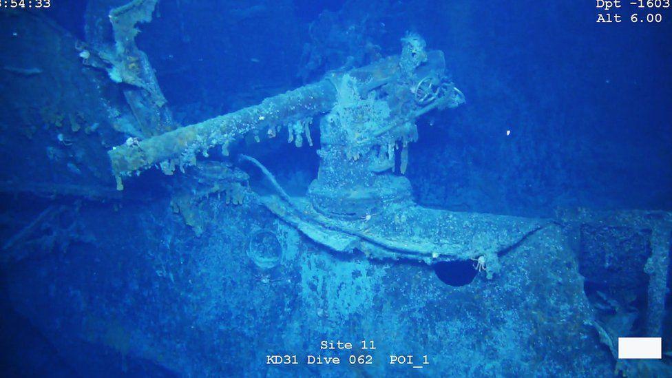 Os destroços não foram afetados pela operação de busca, que obteve imagens com detalhes surpreendentes