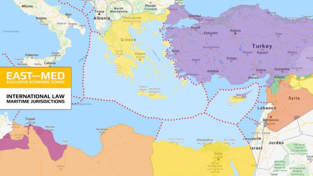 Mediterrâneo Oriental - Zonas Econômicas Exclusivas