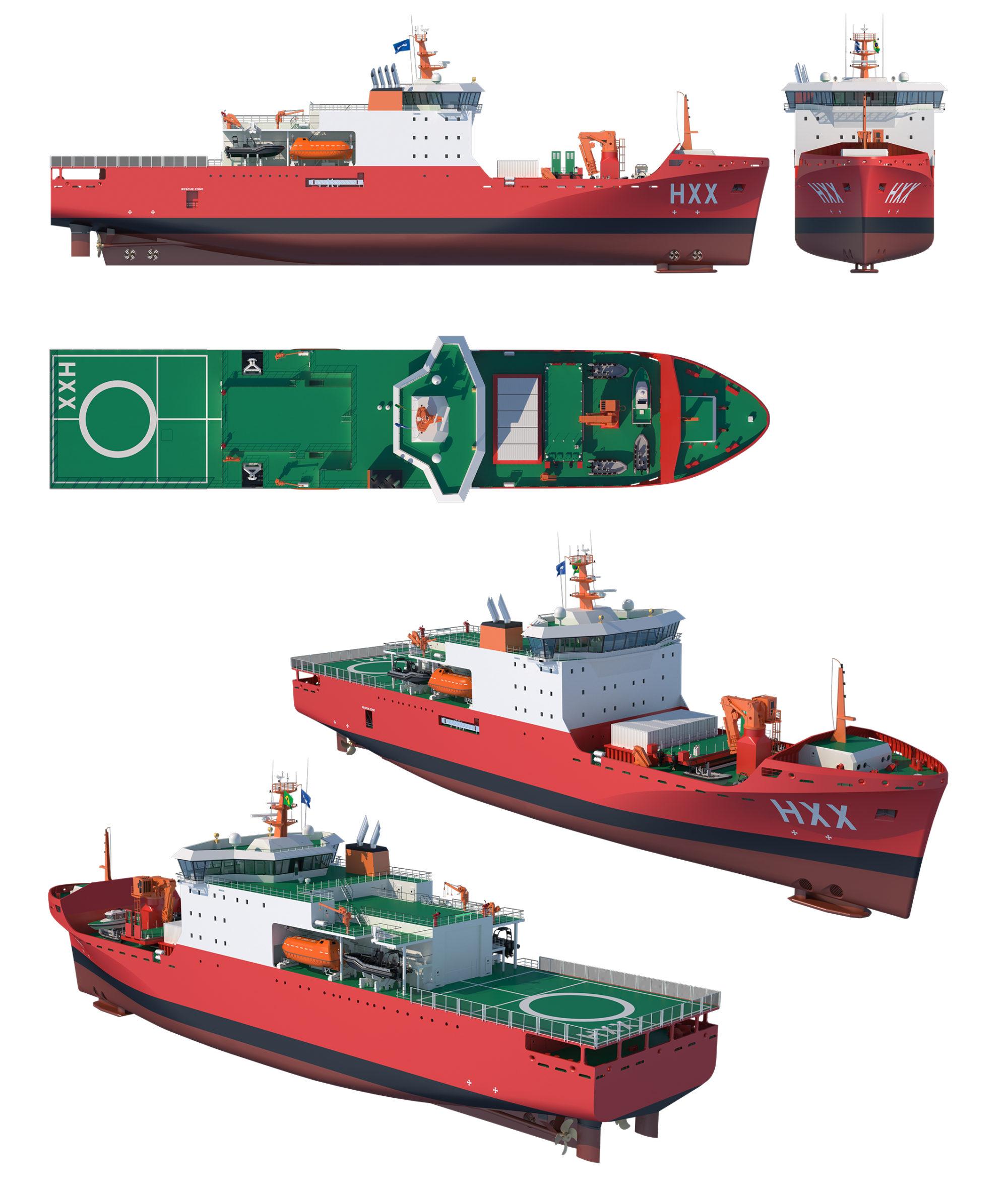 Concepção do Navio de Apoio Antártico