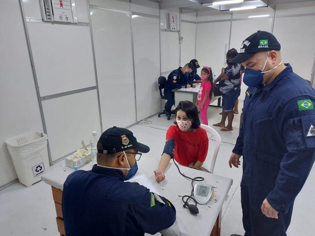 Emprego da equipe de Saúde no Centro de Triagem, anexo ao Hospital de Emergência de Santana (AP)