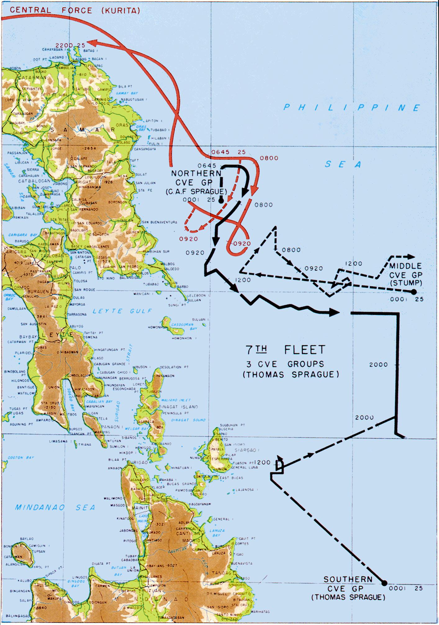Batalha de Samar. Parte da Batalha do Golfo de Leyte