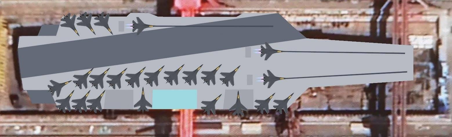 Modelo em 3D do porta-avioes Type 003 baseado nas imagens aéreas