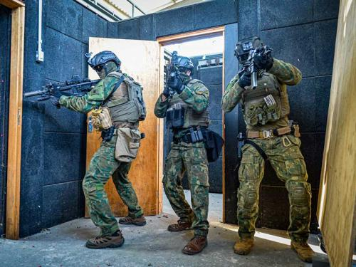 Comandos Anfíbios realizam entrada em compartimento